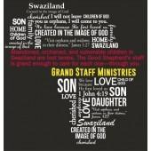 Africa Word Art Men's T-shirt