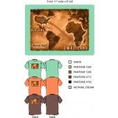 Reaching Swaziland Men's T-shirt, brown